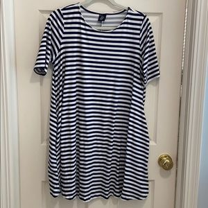 Agnes & Dora Navy and white stripe swing tunic